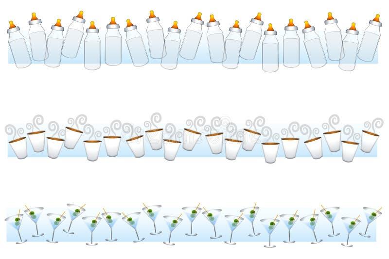 Fronteras de la bebida stock de ilustración