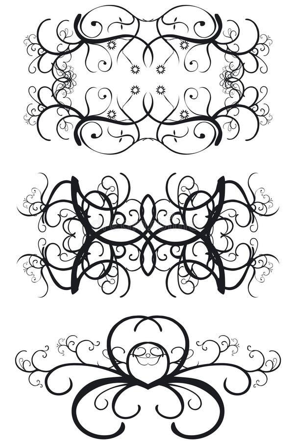 Fronteras decorativas stock de ilustración