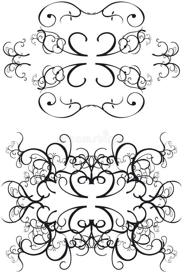Fronteras decorativas ilustración del vector
