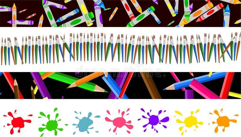 Fronteras del arte ilustración del vector