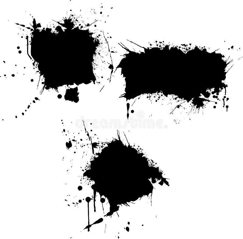 Fronteras del chapoteo ilustración del vector