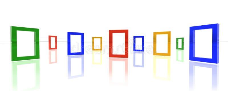 Fronteras del color en el fondo blanco del espejo libre illustration