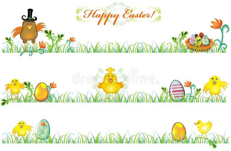 Fronteras del resorte de Pascua stock de ilustración