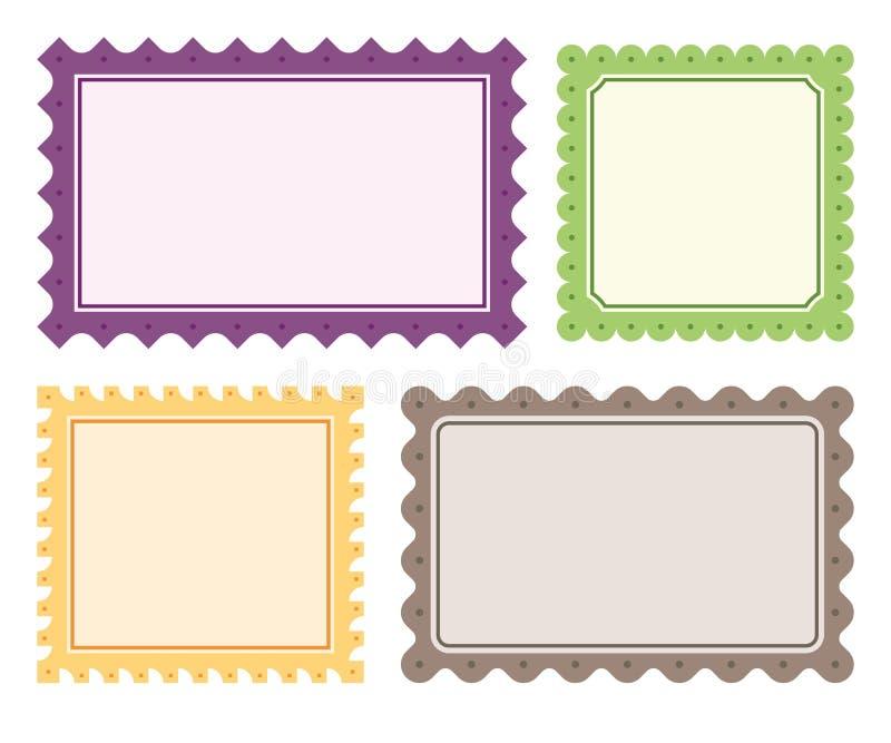 4 fronteras del vector imágenes de archivo libres de regalías