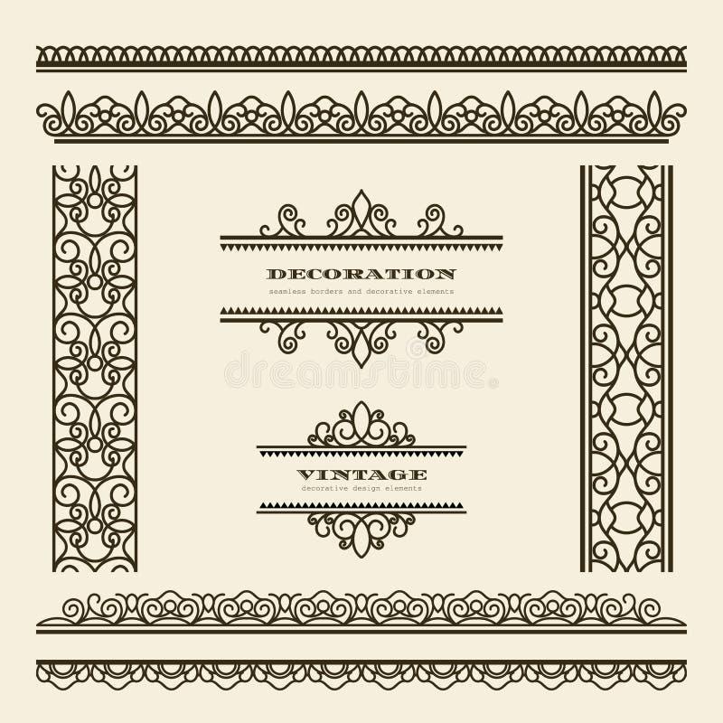 Fronteras del vintage stock de ilustración