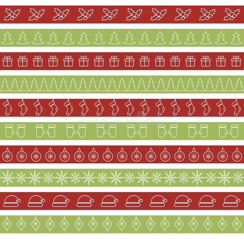 Fronteras inconsútiles de la Navidad para el diseño del día de fiesta libre illustration