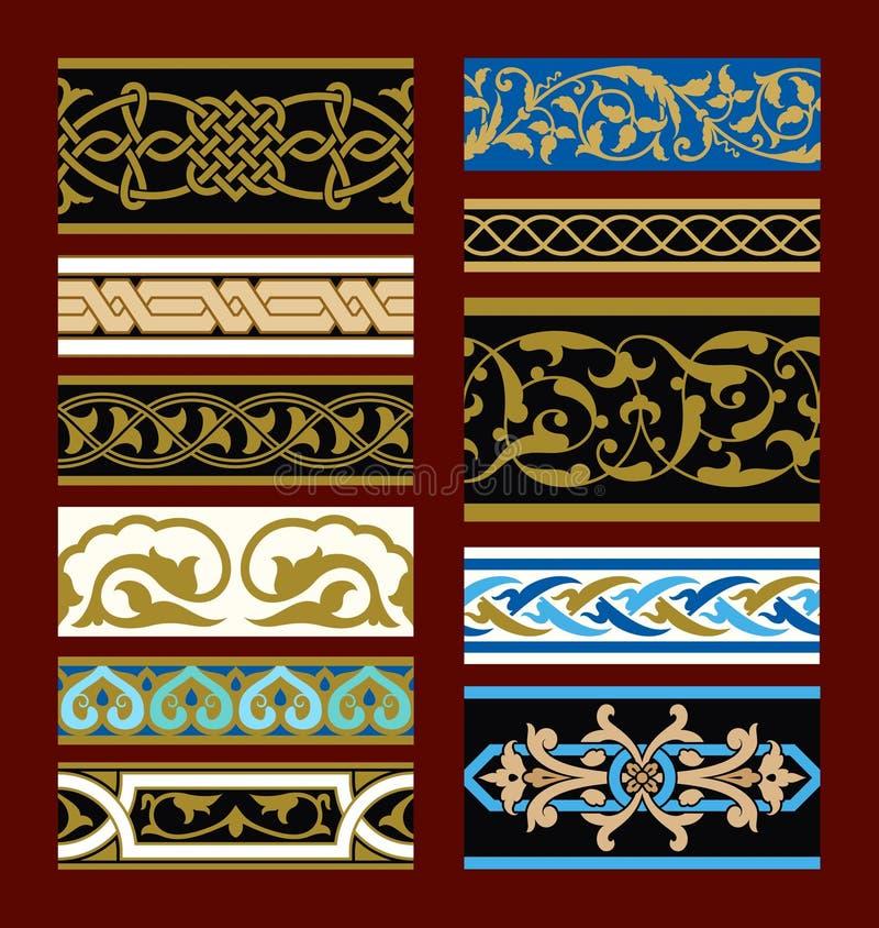 Download Fronteras Inconsútiles Medievales Fijadas Ilustración del Vector - Ilustración de paginación, frontera: 64207528