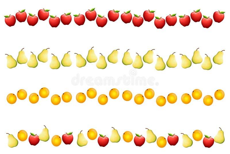 Fronteras o divisores de la fruta libre illustration