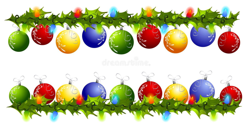 Fronteras o divisores del Swag del ornamento de la Navidad libre illustration