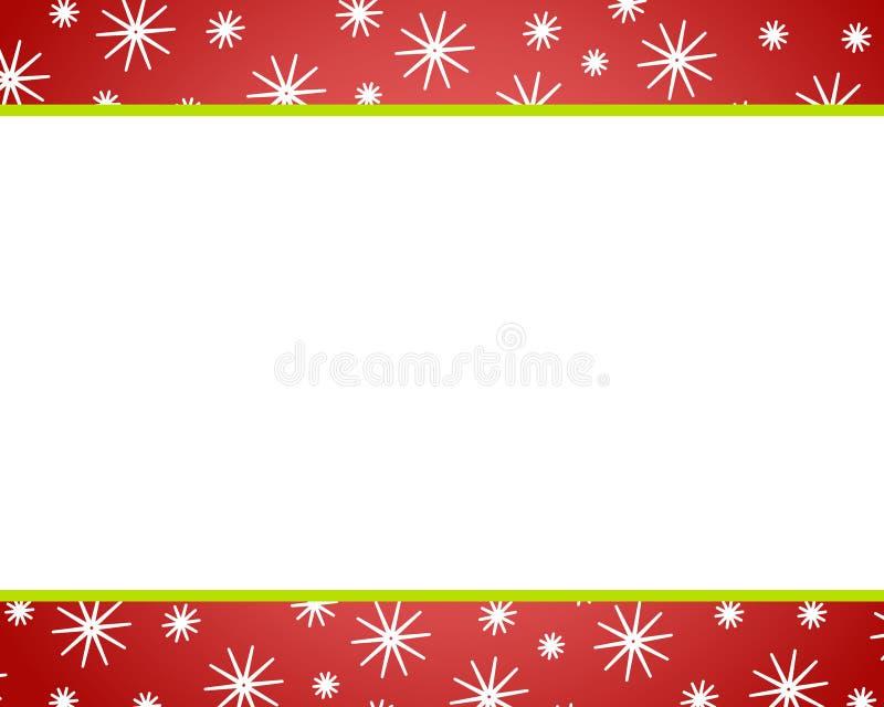 Fronteras rojas de la nieve de la Navidad libre illustration