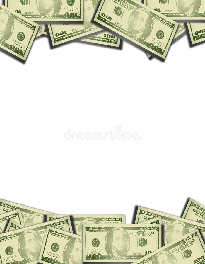 Fronteras superiores e inferiores del dinero ilustración del vector