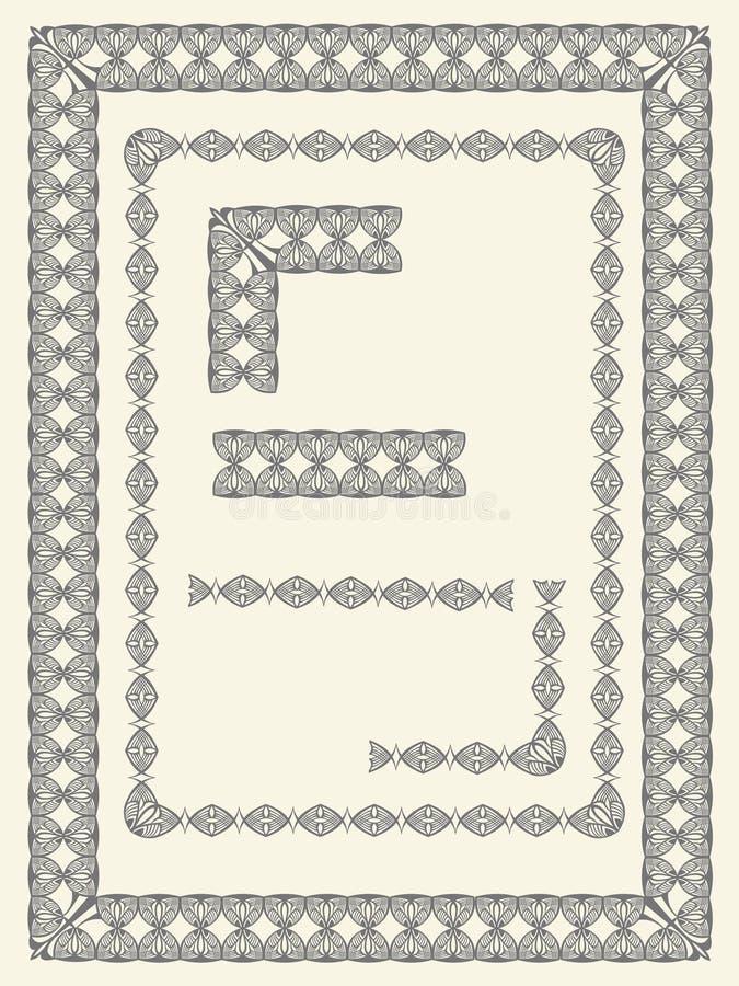 Fronteras y elementos del marco libre illustration