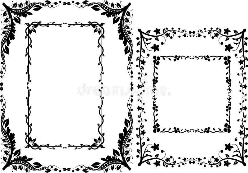 Fronteras y marcos stock de ilustración