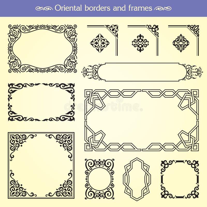 Fronteras y marcos asiáticos orientales libre illustration
