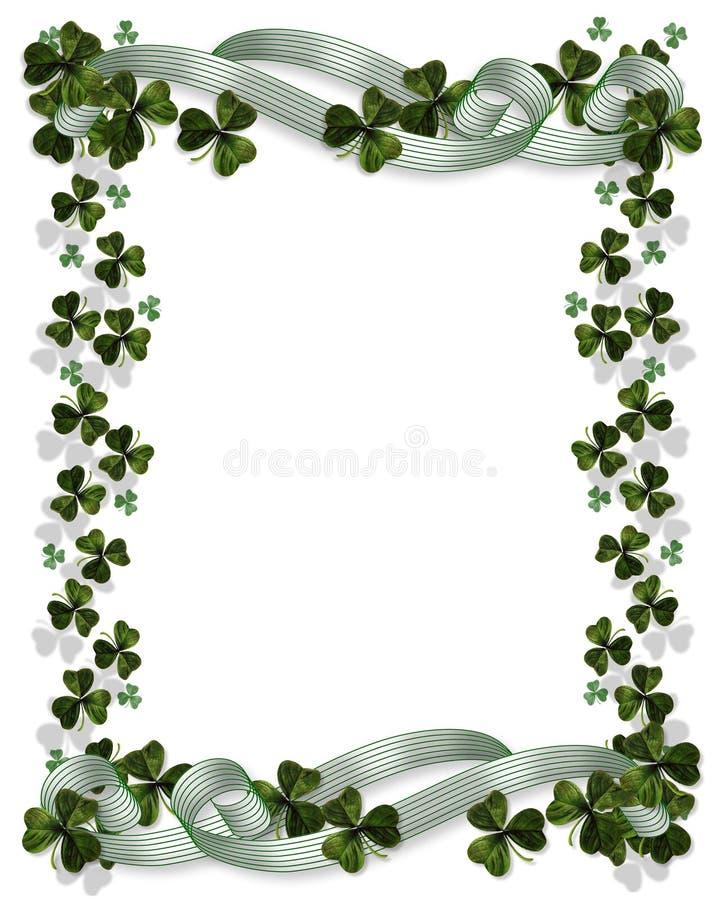 Fronterizo céltico del día del St Patricks stock de ilustración