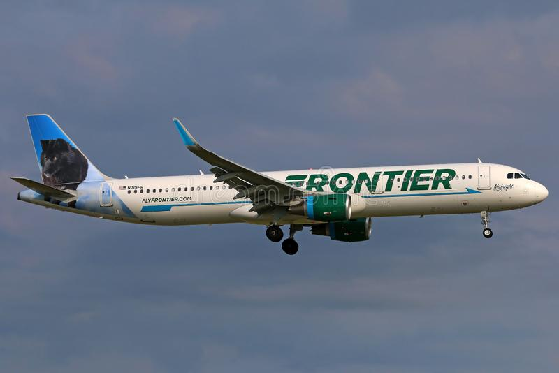 Frontière Airbus A321 néo- image stock
