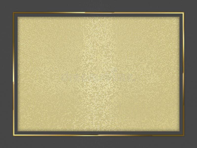 Frontière avec le fond géométrique abstrait illustration 3D photo libre de droits