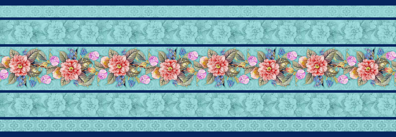 Fronti?re classique sans couture de fleur avec le fond floral illustration stock