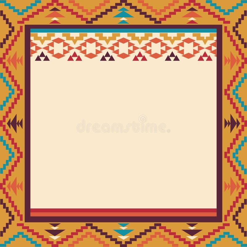 Frontière colorée dans le style de Navajo, illustration de vecteur illustration libre de droits