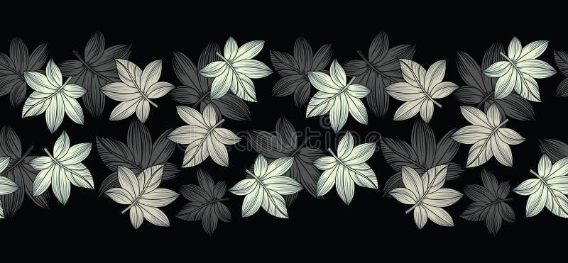 Frontière créative de feuilles de vecteur sans couture illustration stock