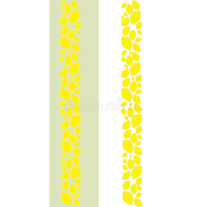 Frontière décorative de citron illustration stock
