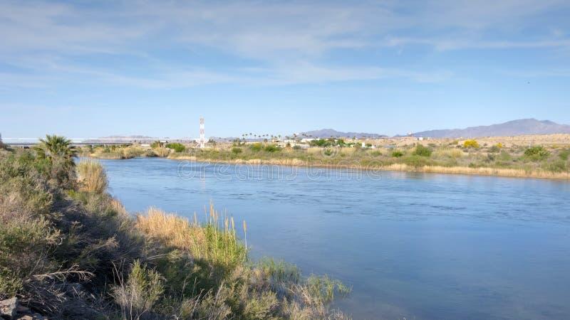 Frontière d'état de l'Arizona-Californie photographie stock libre de droits