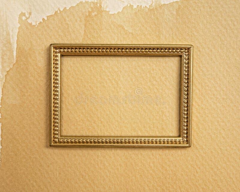 Frontière d'or de cadre photo stock