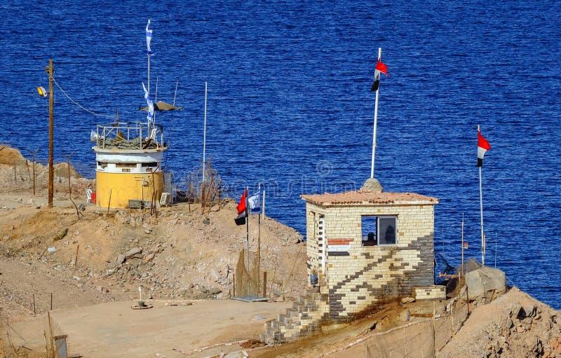 Frontière d'Egiptian d'Israélien images libres de droits