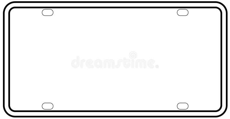 Frontière d'isolement et vide de plaque minéralogique des Etats-Unis illustration stock