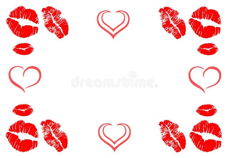 Frontière de cadre de baisers illustration libre de droits