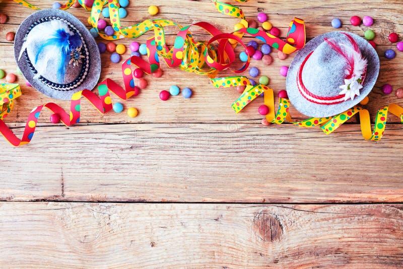Frontière de carnaval coloré de Bavarois ou d'Oktoberfest photos libres de droits