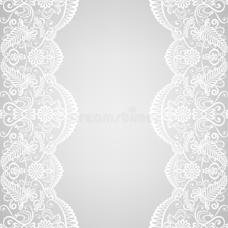 Frontière de dentelle illustration de vecteur