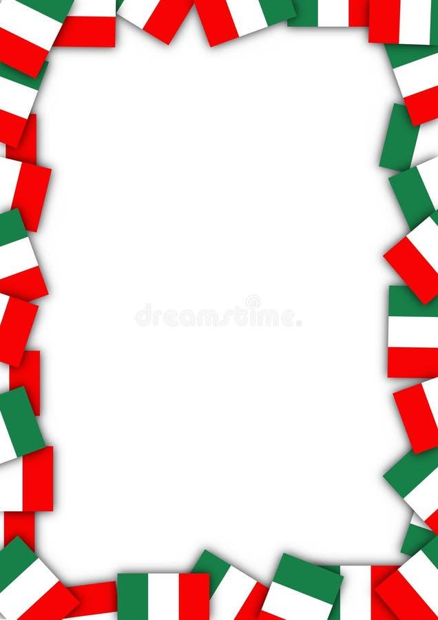 Frontière de drapeau de l'Italie illustration de vecteur