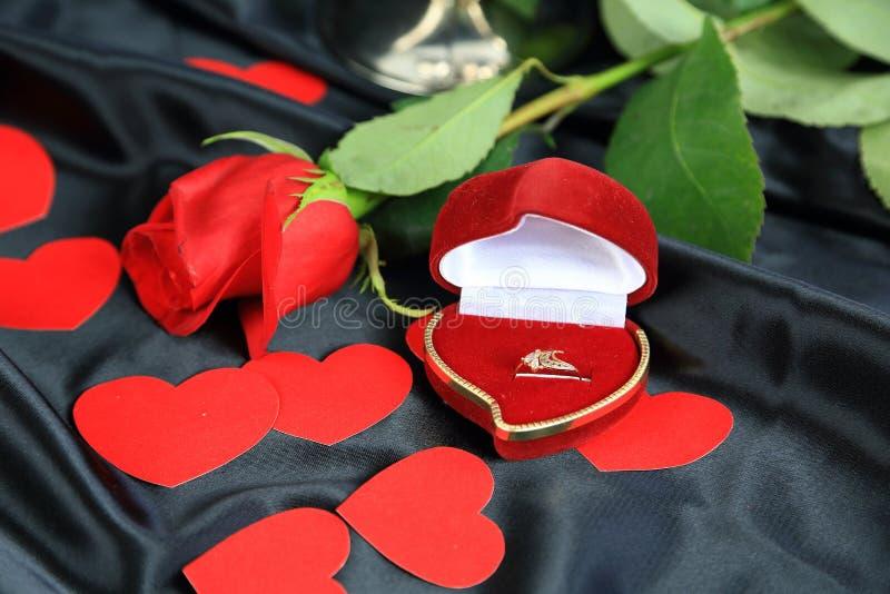 Amour romantique de Saint-Valentin photos libres de droits