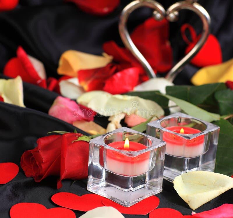 Amour d'isolement par fond d'art de Saint-Valentin photos libres de droits