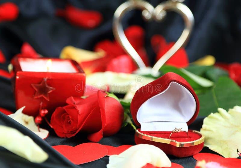 Présent d'ove de Saint Valentin images libres de droits