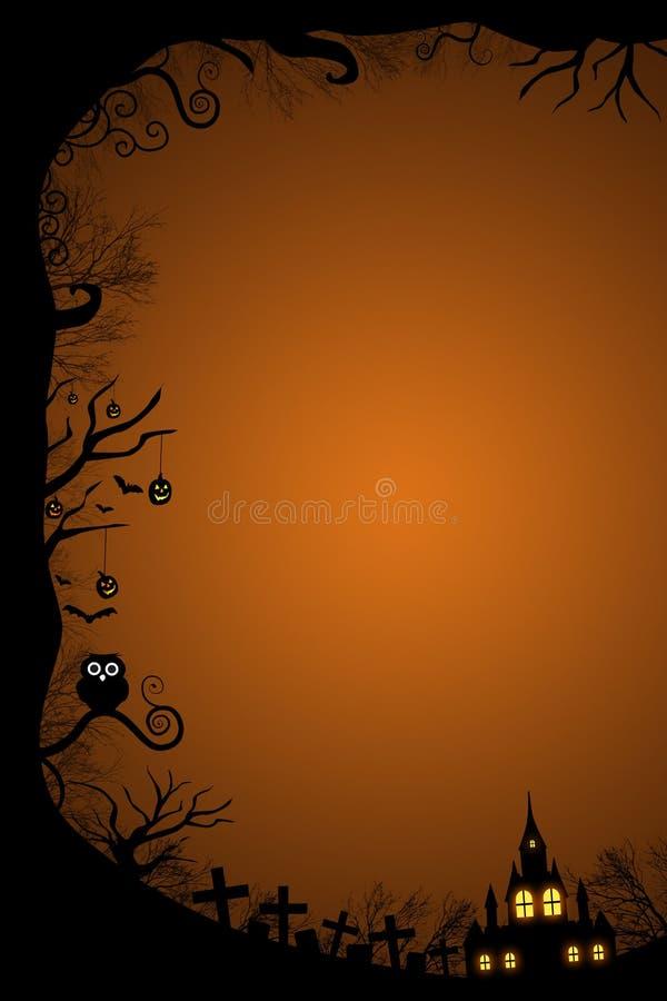 Frontière de Halloween pour la conception illustration stock