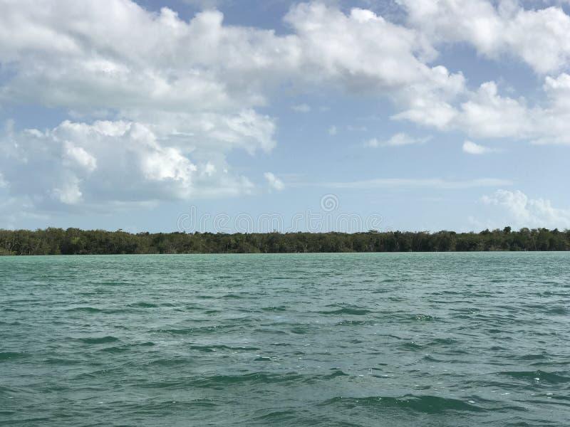 Frontière de la lagune image stock
