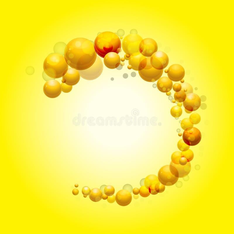 frontière de la sphère 3D sur le fond jaune illustration libre de droits