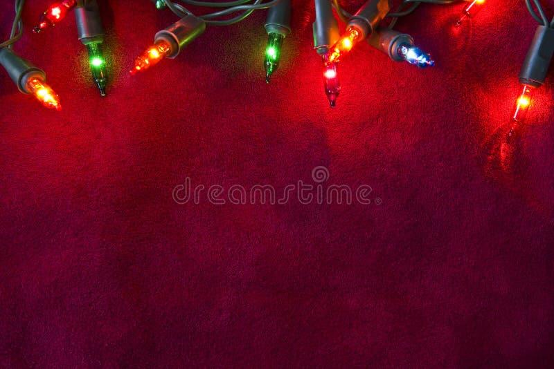 Frontière de lumières de Noël photographie stock