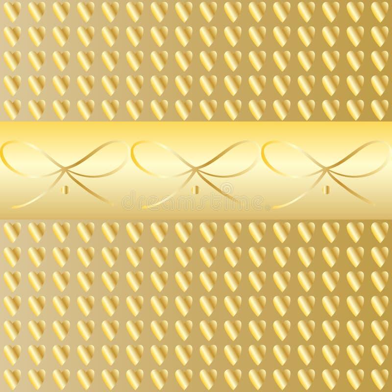 Frontière de luxe de vintage d'or illustration stock