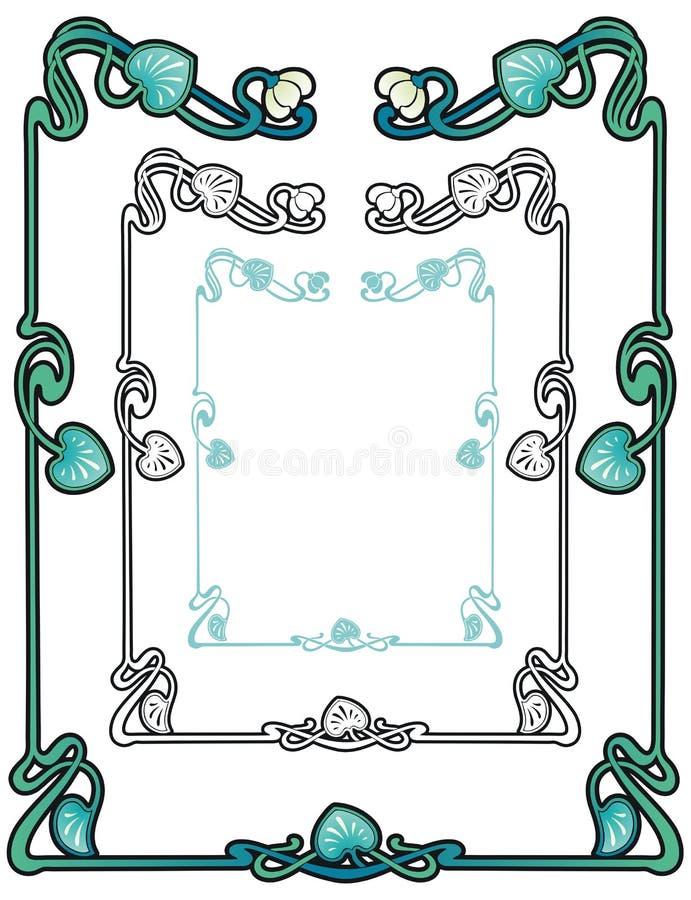 Frontière de nénuphar illustration stock