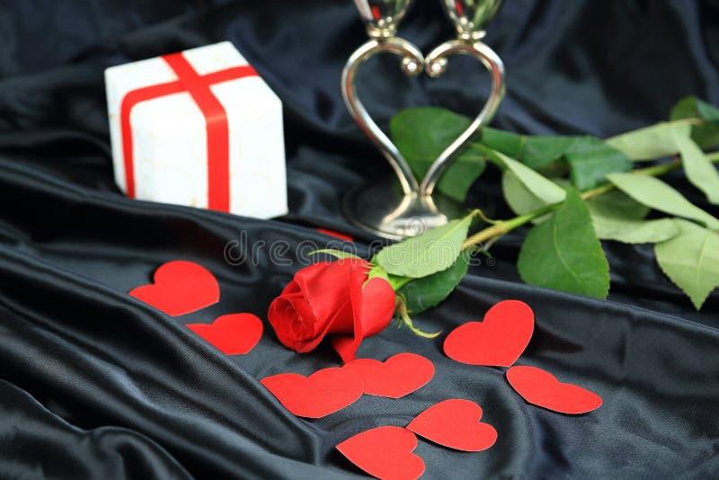 Amour romantique de Saint-Valentin photographie stock libre de droits