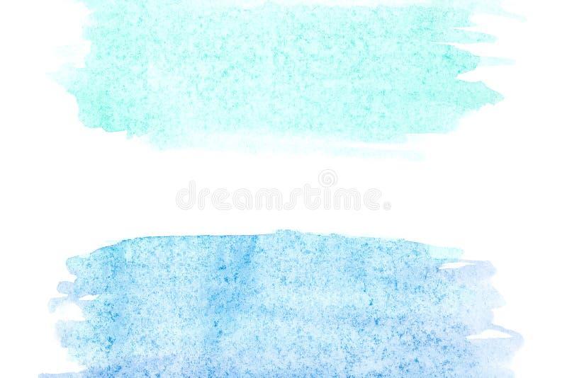 Frontière de peinture abstraite de main d'art d'aquarelle sur le fond blanc Fond d'aquarelle illustration stock