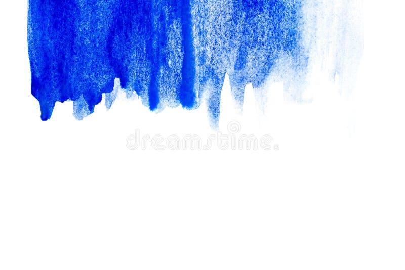 Frontière de peinture abstraite de main d'art d'aquarelle sur le fond blanc Fond d'aquarelle photo libre de droits