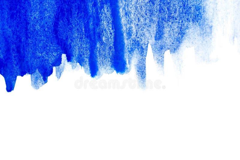 Frontière de peinture abstraite de main d'art d'aquarelle sur le fond blanc Fond d'aquarelle photo stock