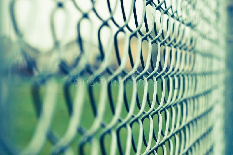 Frontière de sécurité à chaînes photo libre de droits
