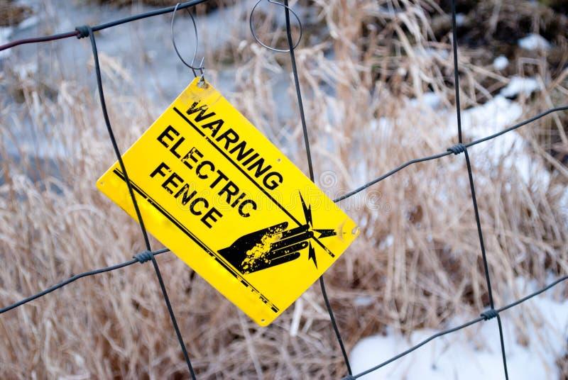 Frontière de sécurité électrique photographie stock libre de droits