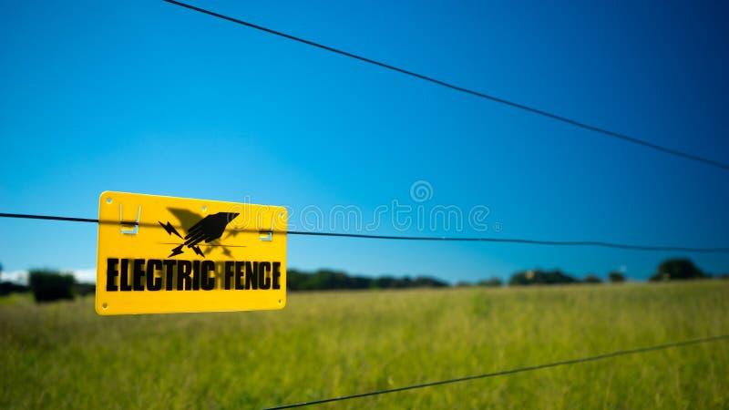 Frontière de sécurité électrique photo stock