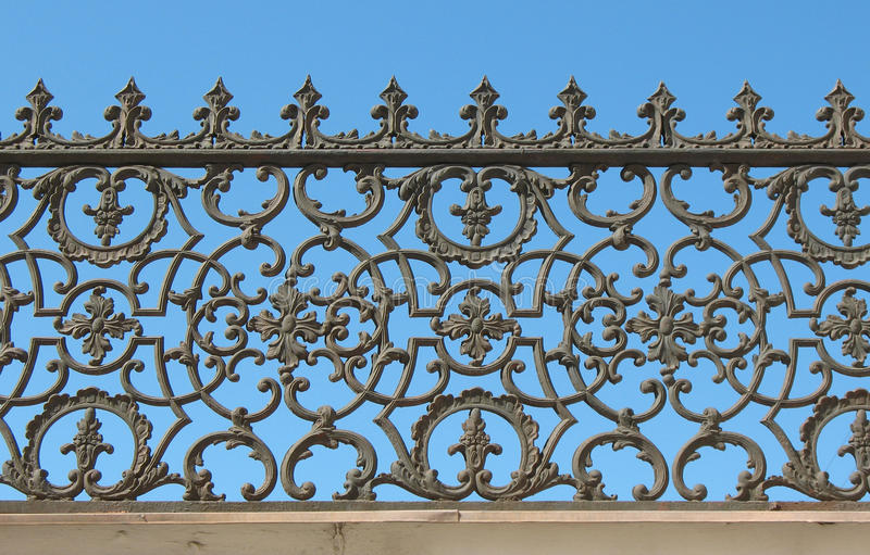 Frontière de sécurité décorative de fonte image stock